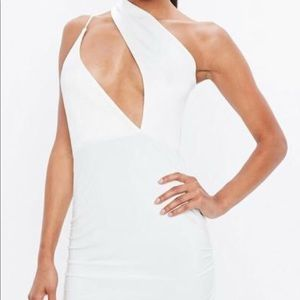Missguided one shoulder cutout dress
